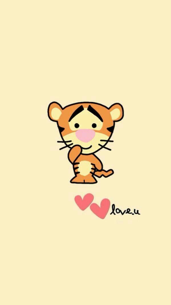 Love u. Tigger Cute cartoon wallpapers, Disney phone
