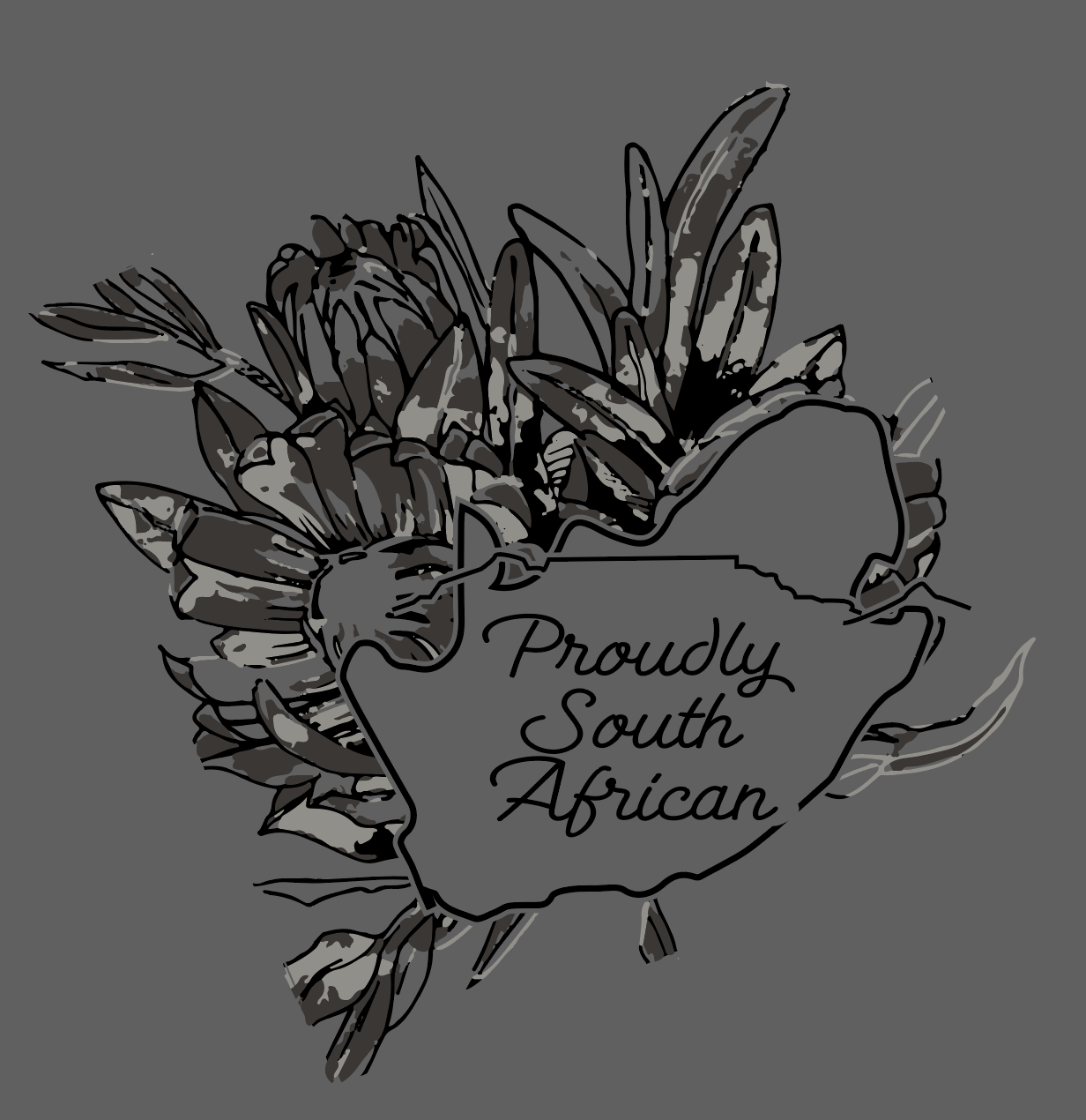 Outline Of South Africa With Protea Background Africa Tattoos Africa Painting Africa Tribes