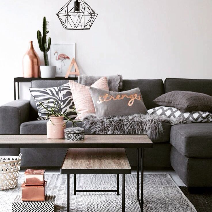 Most Pinned Gray Blush Pink Copper Living Room Image Color Scheme For Living  Room Part 49