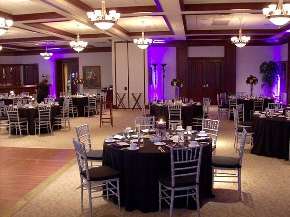 Omni Severin Hotel Wedding Reception Pink Uplighting Venue Indianapolis Grapevinedj DJ