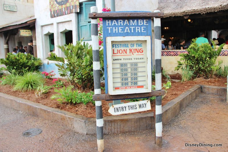 Harambe Theatre Signs Festival Of The Lion King Show Times Harambe