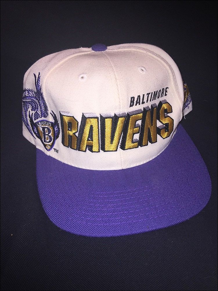 cda5c02ffea Vintage DEADSTOCK 90 s Sports Specialties NFL Baltimore Ravens Laser Shadow Snapback  Hat Cap by JourneymanVintage on Etsy