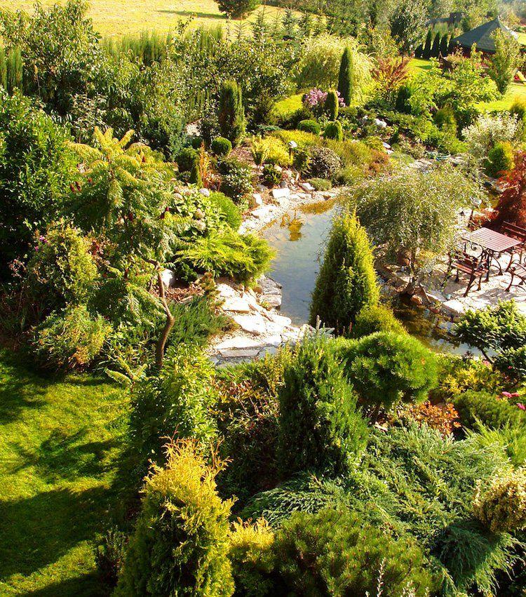 Gartengestaltung In Hanglage 30 Tipps Und Ideen Fur Begrunung Mit Bildern Gartengestaltung Immergrune Straucher Garten