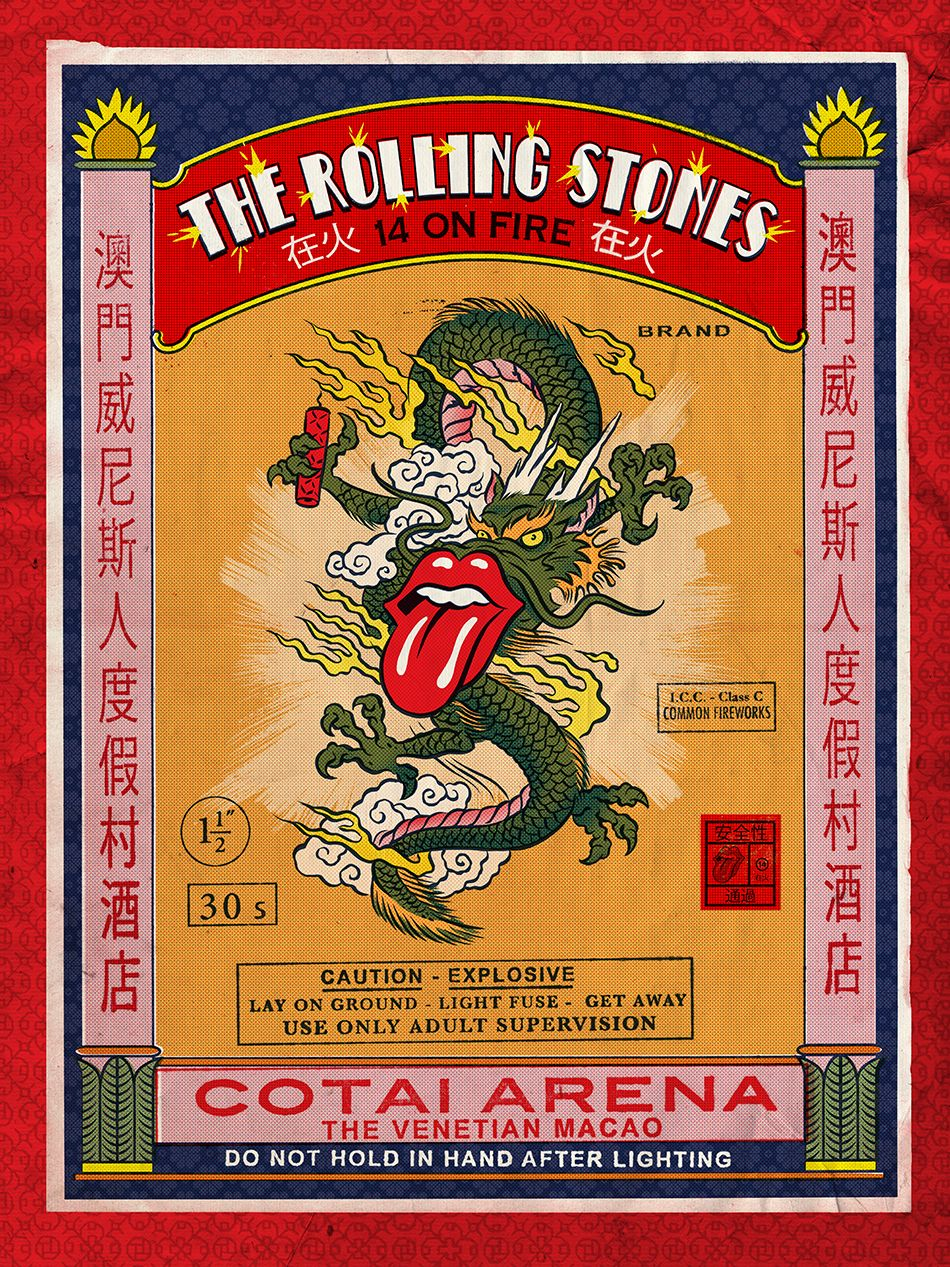 rolling stones 14 on fire poster - Buscar con Google
