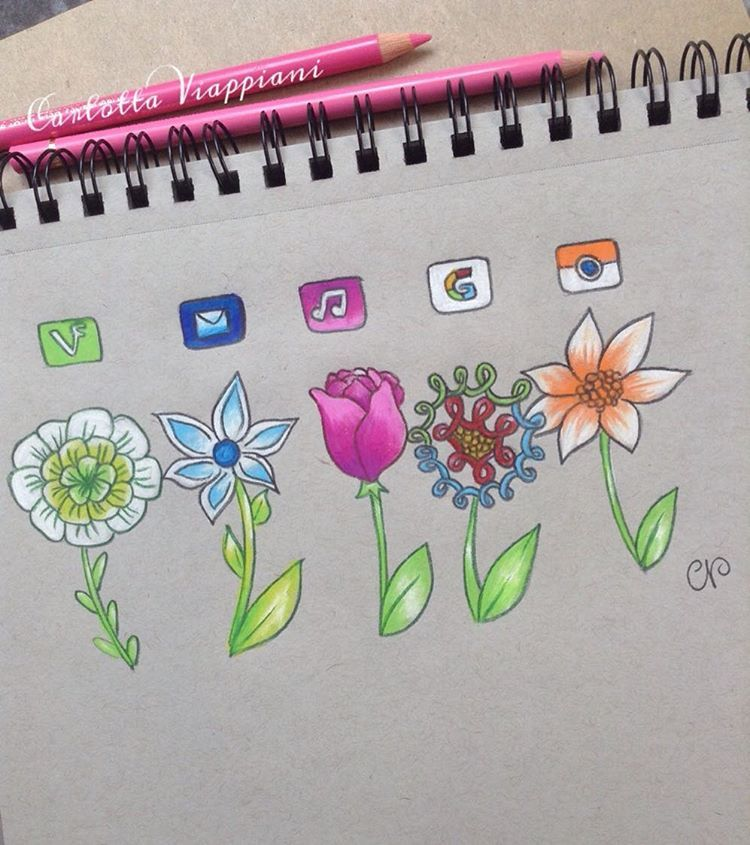 """Flower Drawing App: """"SOCIAL MEDIA FLOWERS PART 2 Just Because I Saw That You"""