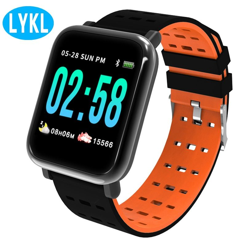 67c985ff557f5a Cheap Price LYKL A6 Smart Sport Watch Heart Rate Monitor Fitness Tracker  Sleep Monitor IP67 Life