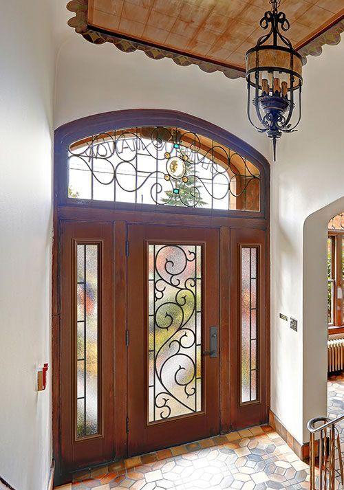 Stunning Masonite entry door (Belleville Mahogany Textured w ...