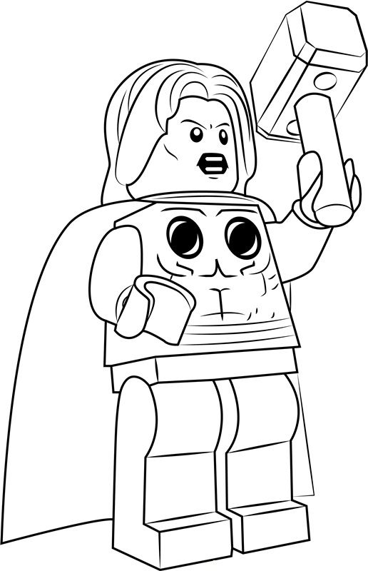 Lego Coloring Pages thor #coloringpages #coloringpagesforkids