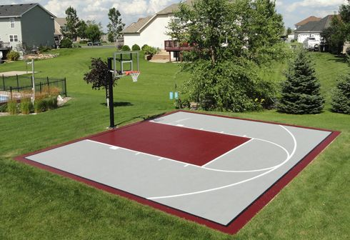 20x30 Basketbal Courts Basketball Court Backyard Outdoor Basketball Court Home Basketball Court
