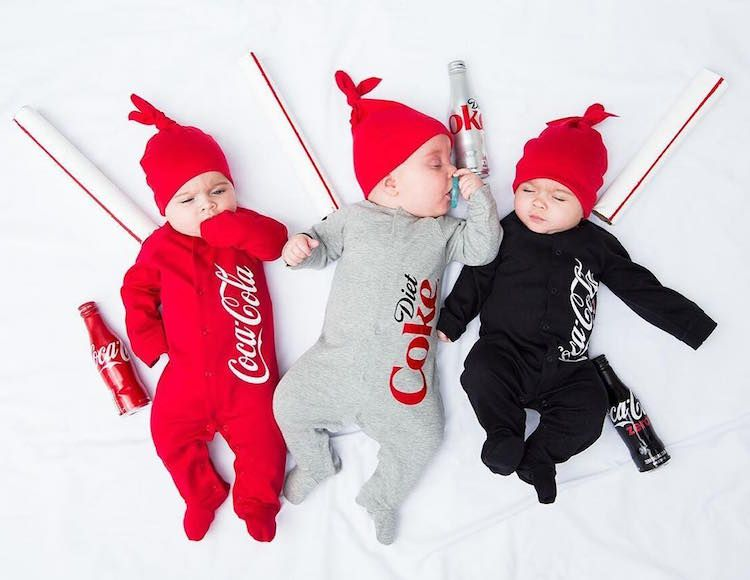 These parents are inventing their triplets the most delightful costumes in the world :-D