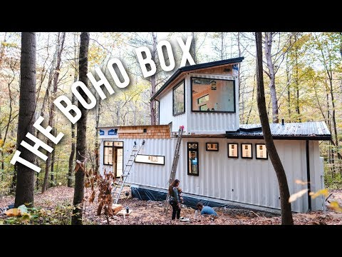 Building A Shipping Container Home | THE BOHO BOX AIRBNB!