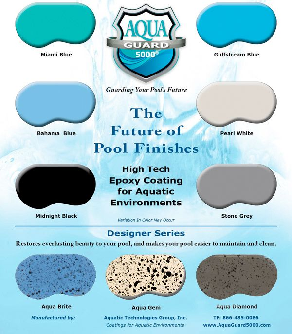 Pool Paint Finishes Color Chart In 2020