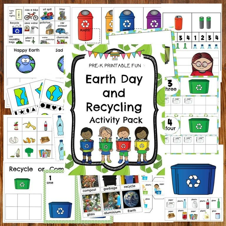 Earth Day And Recycling Lesson Planning Ideas Pre K Printable