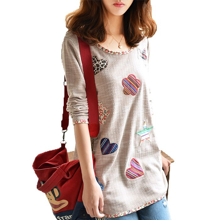 Good quality women Plus size long Knit sweater, women long sleeve Flower Heart Patch sweaters. Discover and shop the latest things you love on https://www.zkkoo.com Discover and shop the latest women fashion, celebrity, street style, outfit ideas, dresses you love on www.zkkoo.com