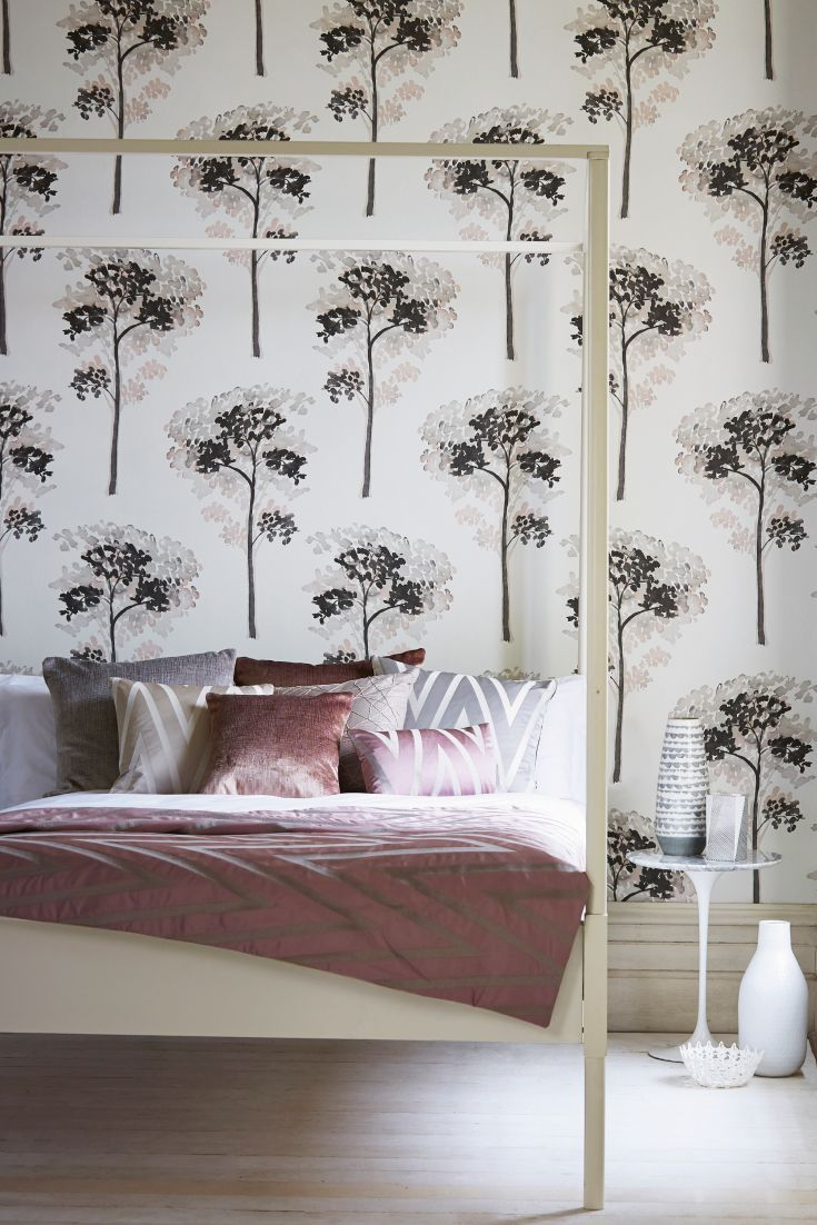 Bedroom Wallpaper Designs Glamorous Stunning Tree Wallpaper Design Called Katsura  Bedrooms Review