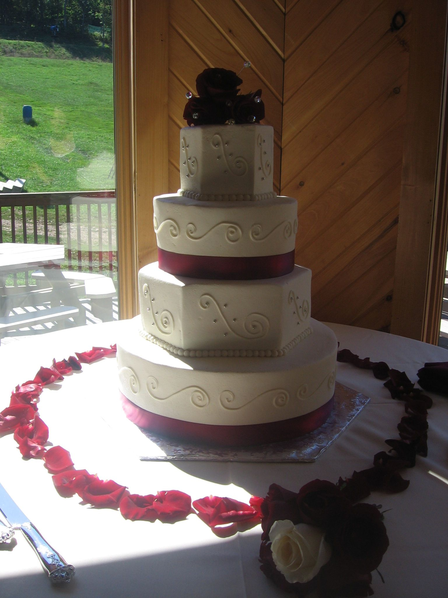 3 Tier Buttercream Wedding Cake By Main Street Sweets Bakery Out Of Fairfield PA