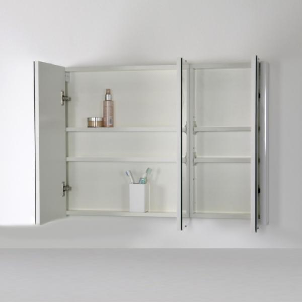 Vasari Turin Mirrored Bathroom Cabinet 900mm Bathroom Mirror