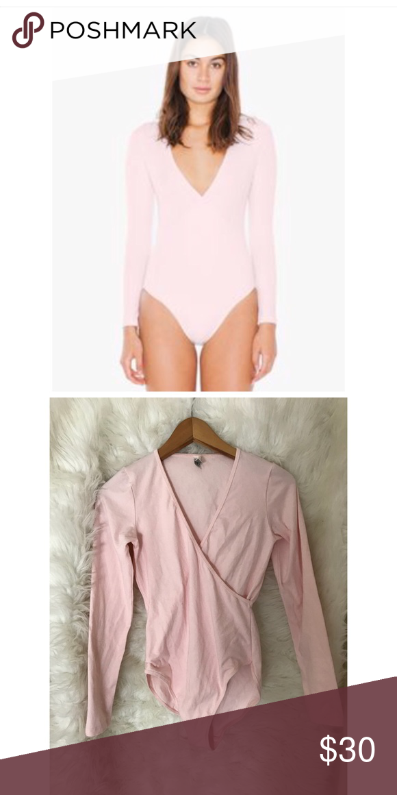 2161f8241b American Apparel Pink Juilliard Bodysuit Size large Worn once No flaws American  Apparel Tops Blouses