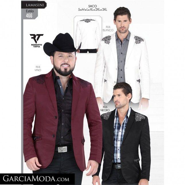 40b5f19c51 Saco Lamasini Western Wear 466-Blanco-Vino-Negro ropa vaquera