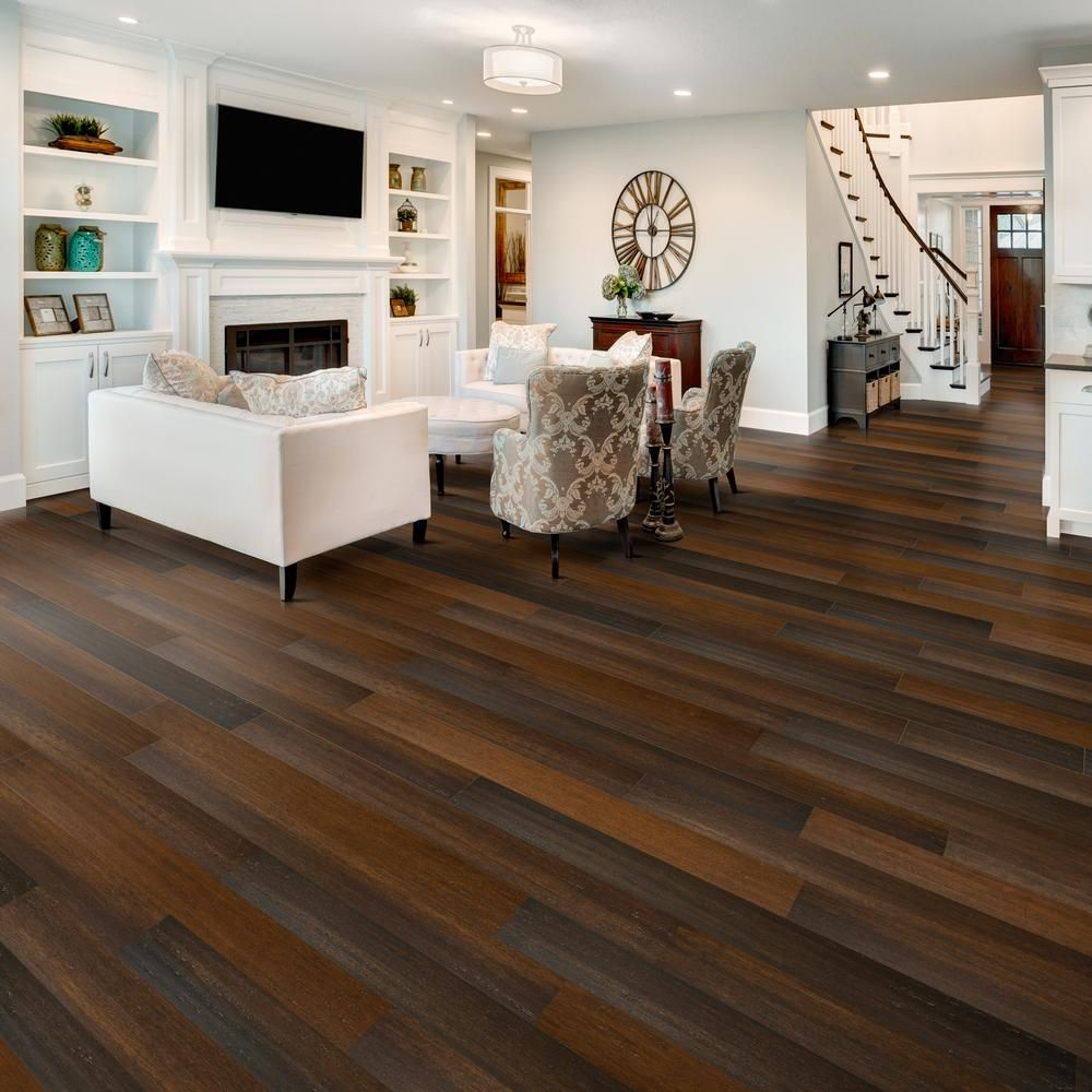Home Legend Strand Woven Charlestone 7mm T X 5 2 In W X 36 22 In L Click Water Resistant Bamboo House Flooring Grey Laminate Flooring Wood Laminate Flooring