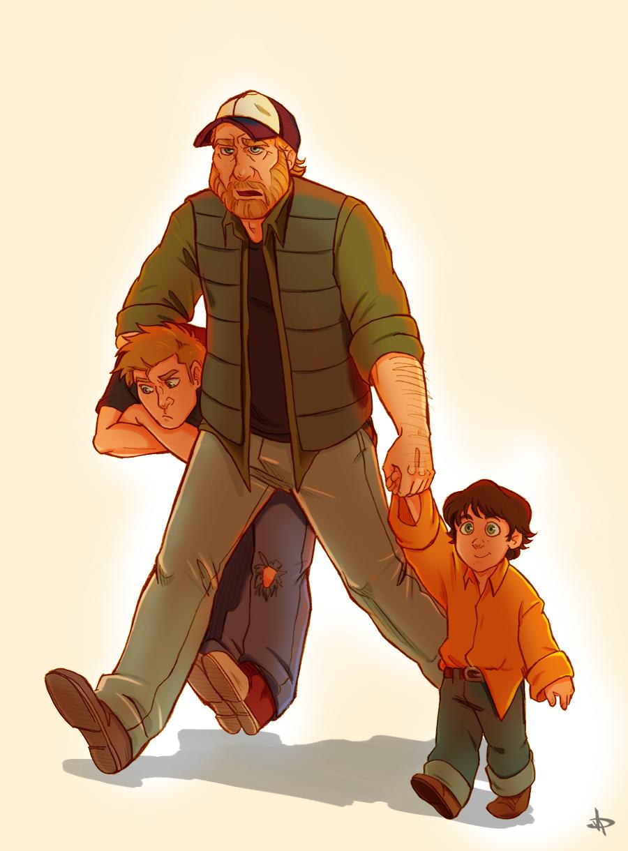 "deannamb:""Fatherhood"" | Supernatural Drawings | Supernatural"