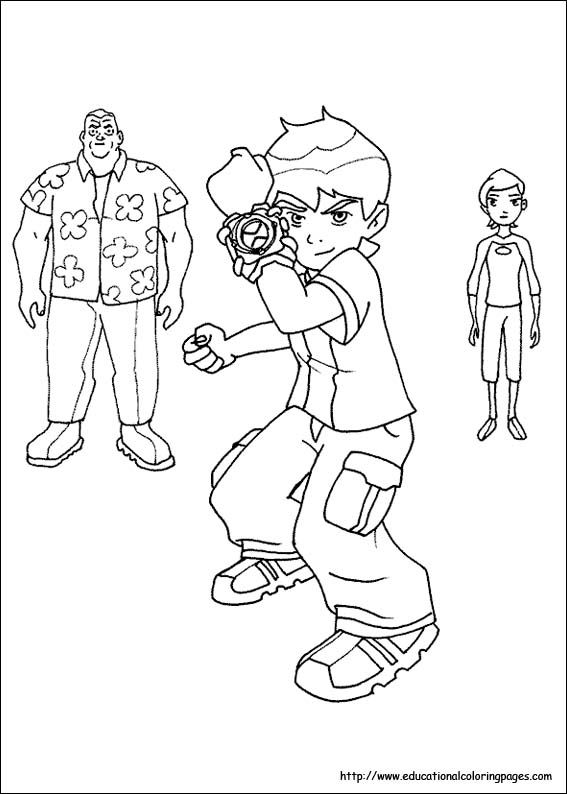 Heaps Of Free Ben 10 Coloring Page Sheet Printables
