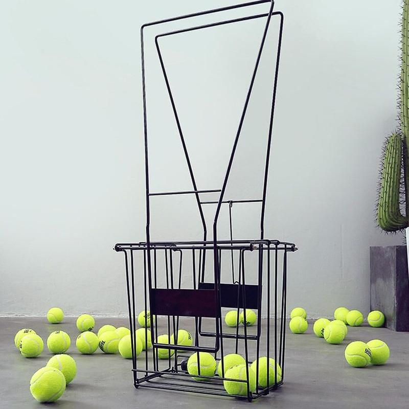Professional 70 Pc Tennis Ball Pick Up Hopper Portable Tennis Ball Stand With Basket Softball Baseball Metal Ball Box B81605 Metal Ball Tennis Ball Softball