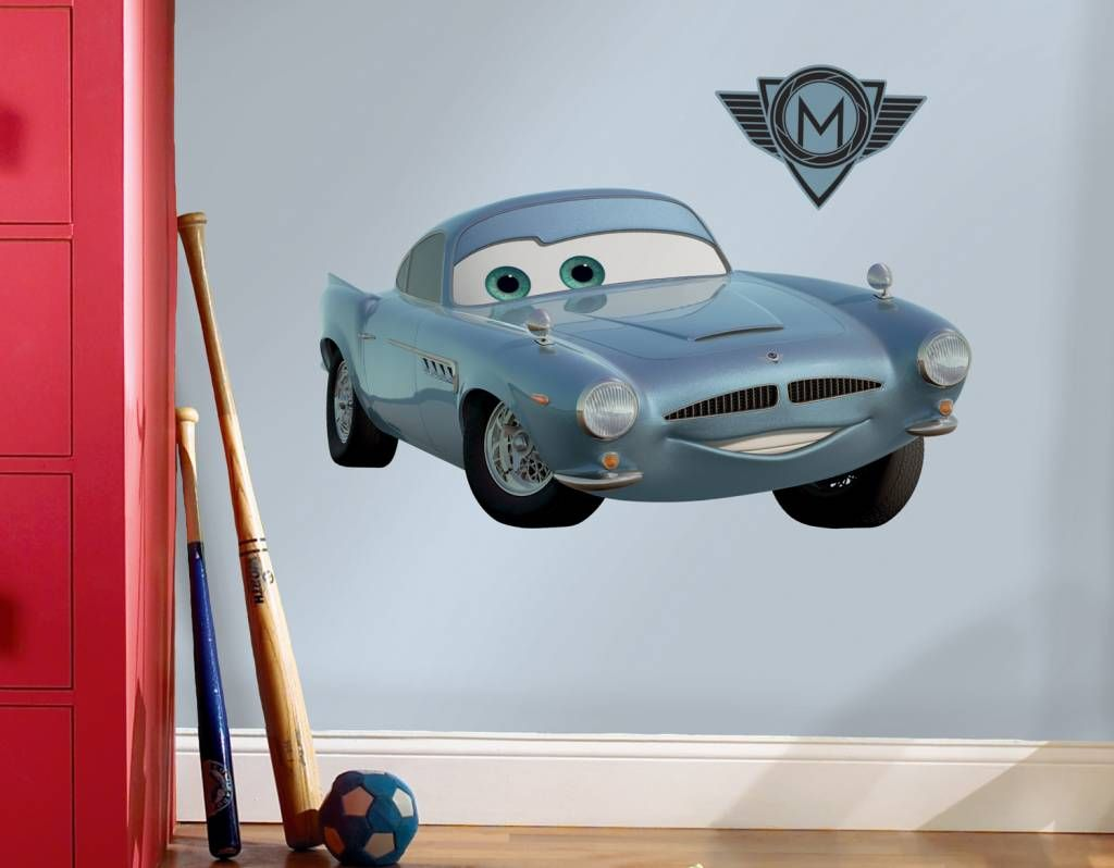 Cars Muurstickers Kinderkamer.Leuke Disney Cars Finn Mcmissle Muursticker Voor In De Kinderkamer