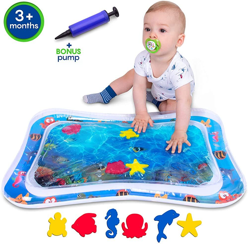 Inflatable Tummy Time Water Play Mat For Baby Infant With Wider Hole For Easier Filling Pump Included Cpc Certifie Baby Mat Play Mat