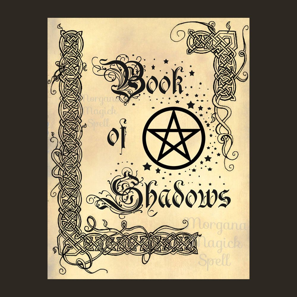 Bos Front Page, Book Of Shadows Digital Download, Grimoire, Scrapbook, Wicca,  Pagan, Witchcraft, White Magick, Magick Spell