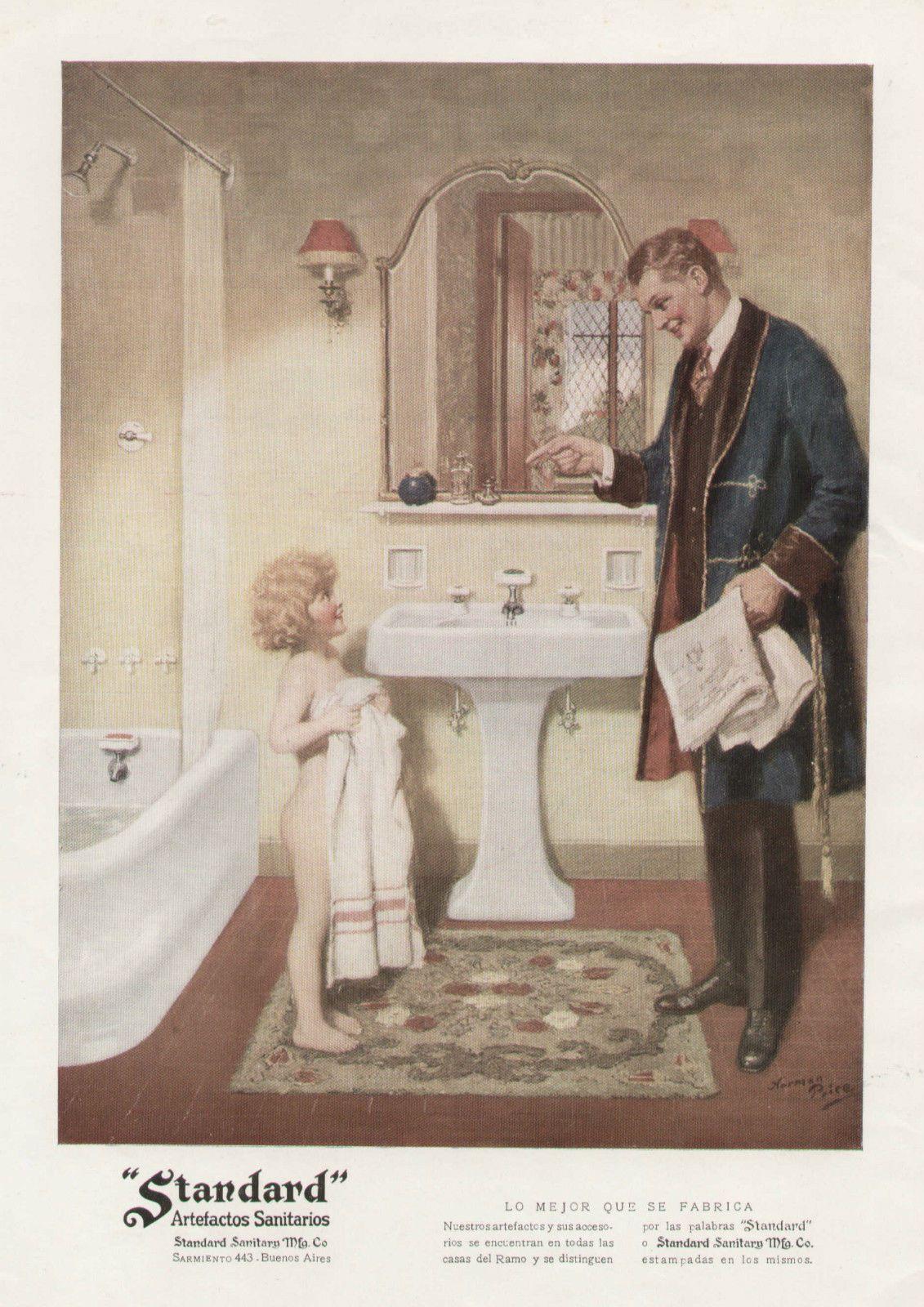 Child Bathing Standard Plumbing Fixtures Magazine Ad