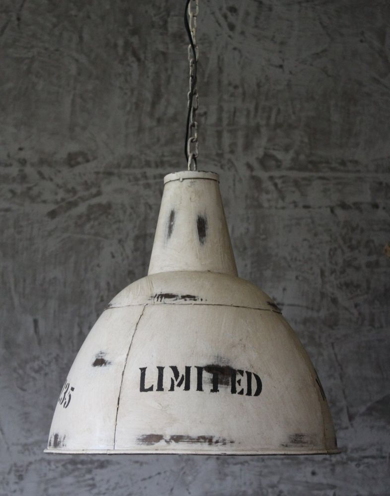Hange Lampe O40 Cm Alte Industrielampe Retro Loftlampe Fabrik