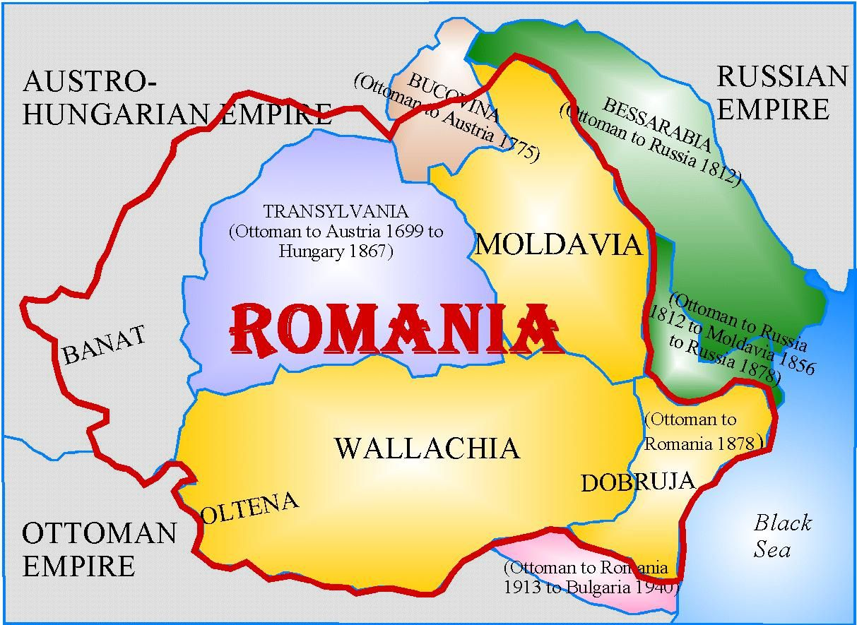 Romania Historical genealogy page    Geography   Romania map