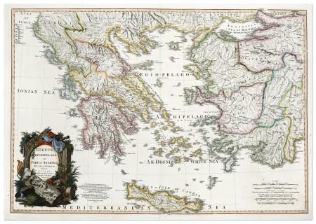 Greece Archipelago And Part Of Anadoli By L S De La Rochette Mdccxc Antique Print Map Room Greece Map Botanical Illustration Europe Map