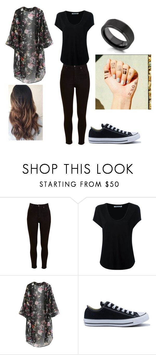 """""""Tyler Joseph Inspired Outfit."""" by katrinaevans-i ❤ liked on Polyvore featuring Lee, Alexander Wang, Converse and Kobelli"""