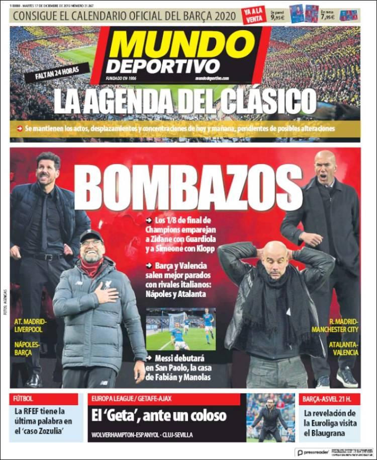 20191217 Periódico El Mundo Deportivo (España