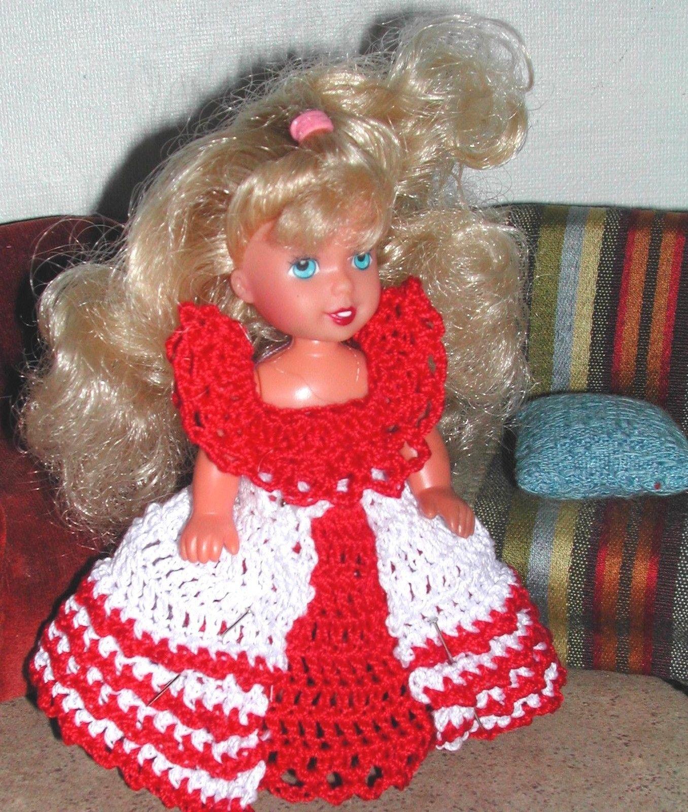 Crochet Fashion Doll Pattern 612 Christmas Kelly's Booklet | eBay