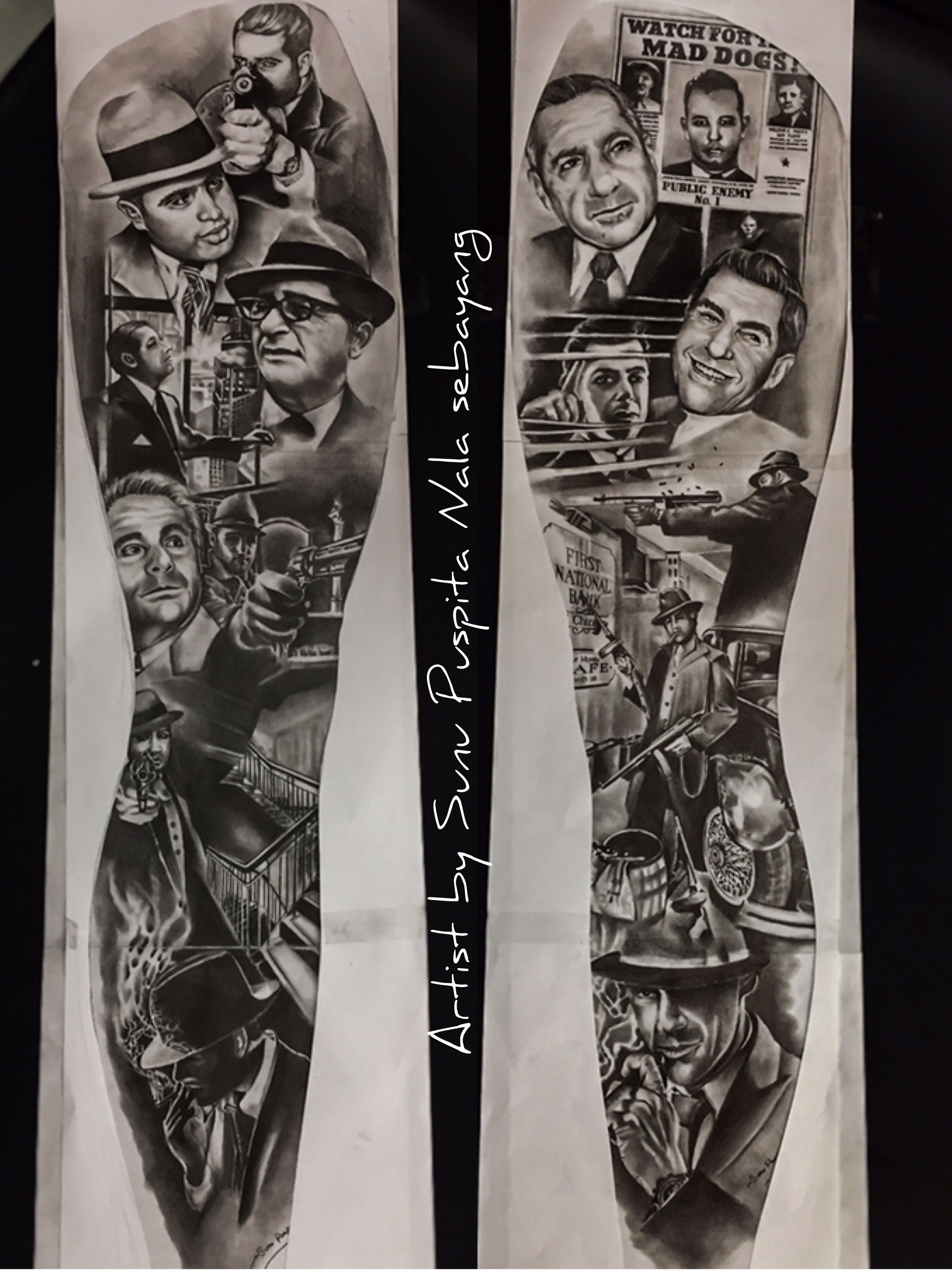Bonnie And Clyde Tattoo: Ιδέες τατουάζ και Τατουάζ