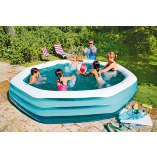Buy Summer Escapes 9ft Octagonal Family Paddling Pool 1318l Pools And Paddling Pools Argos Pool Center Pool Outdoor Toys