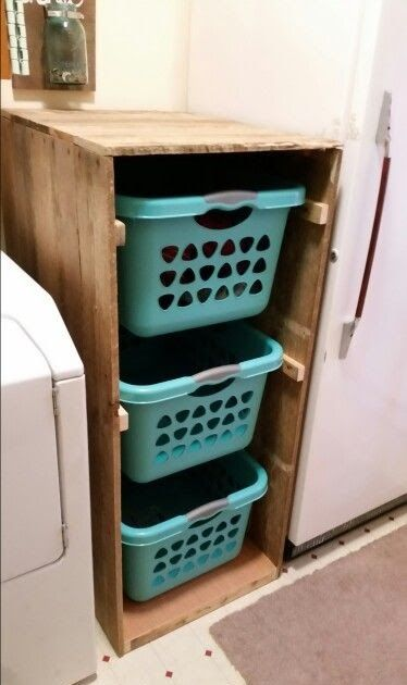 Laundry Sorter Made From Pallets Almacenamiento De Despensa