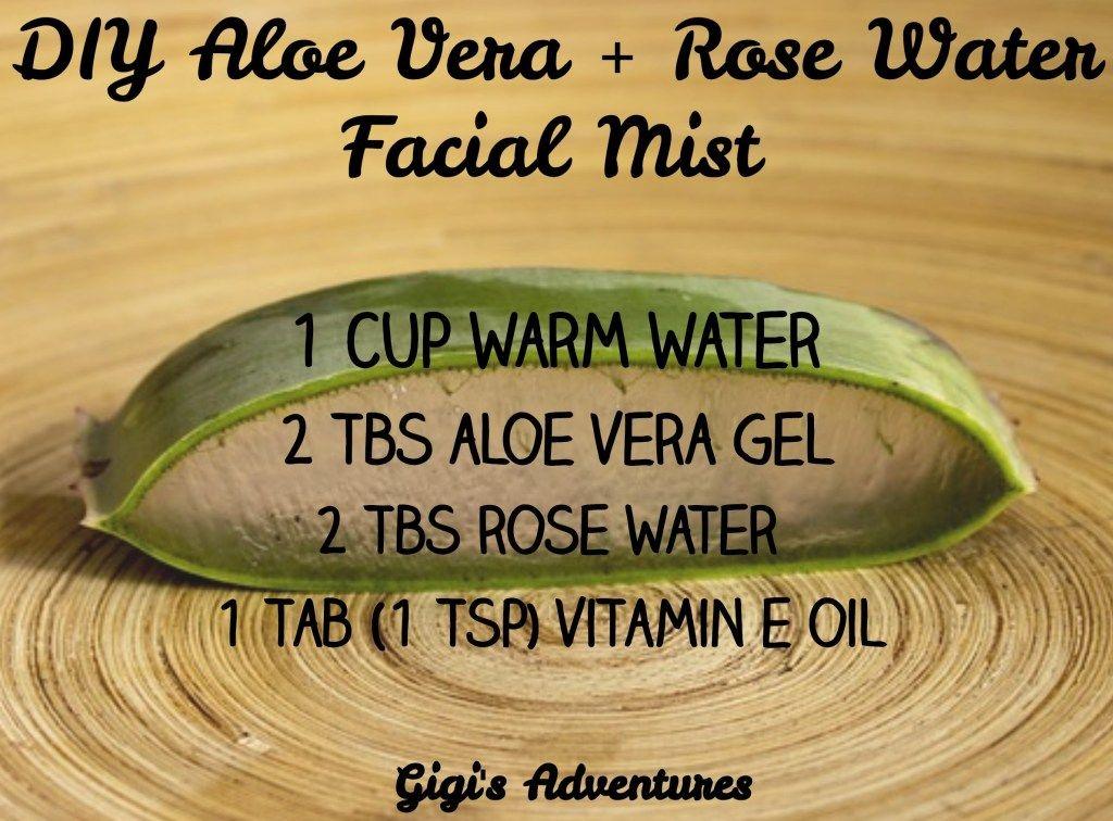 DIY Aloe Vera + Rose Water Facial Mist Moisturizes