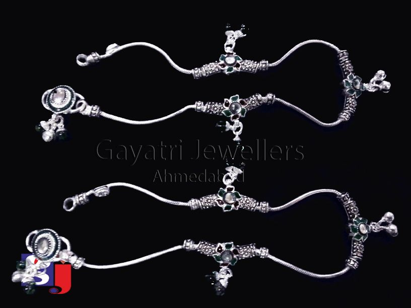 Anklet design ! Feet jewellery , Indian traditional jewellery ...