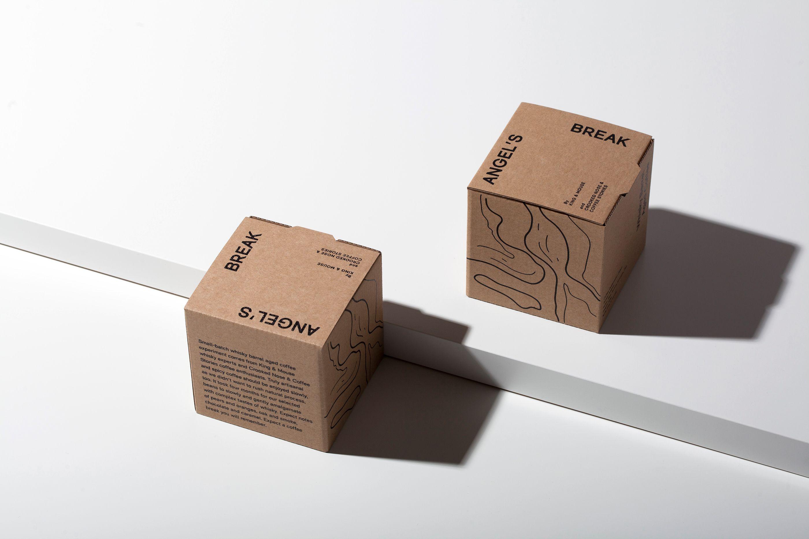 ANGEL'S BREAK coffee beans packaging on Behance