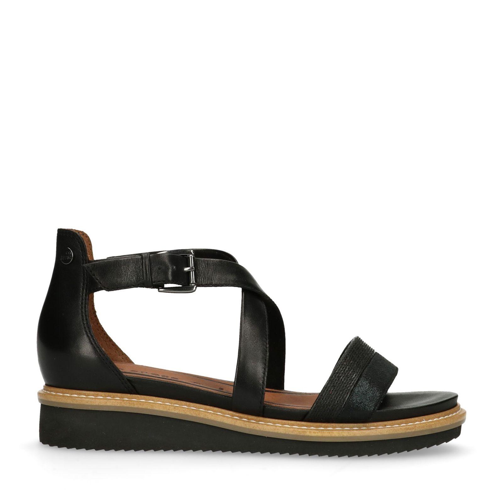 Black Dames Sandalen Zwarte Shoes Shopping Schoenen Manfield En f5I5rW