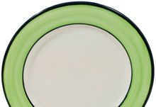 """Spree Chartreuse"" - by HF Coors-American Made Dinnerware. Restaurant quality/durability!"