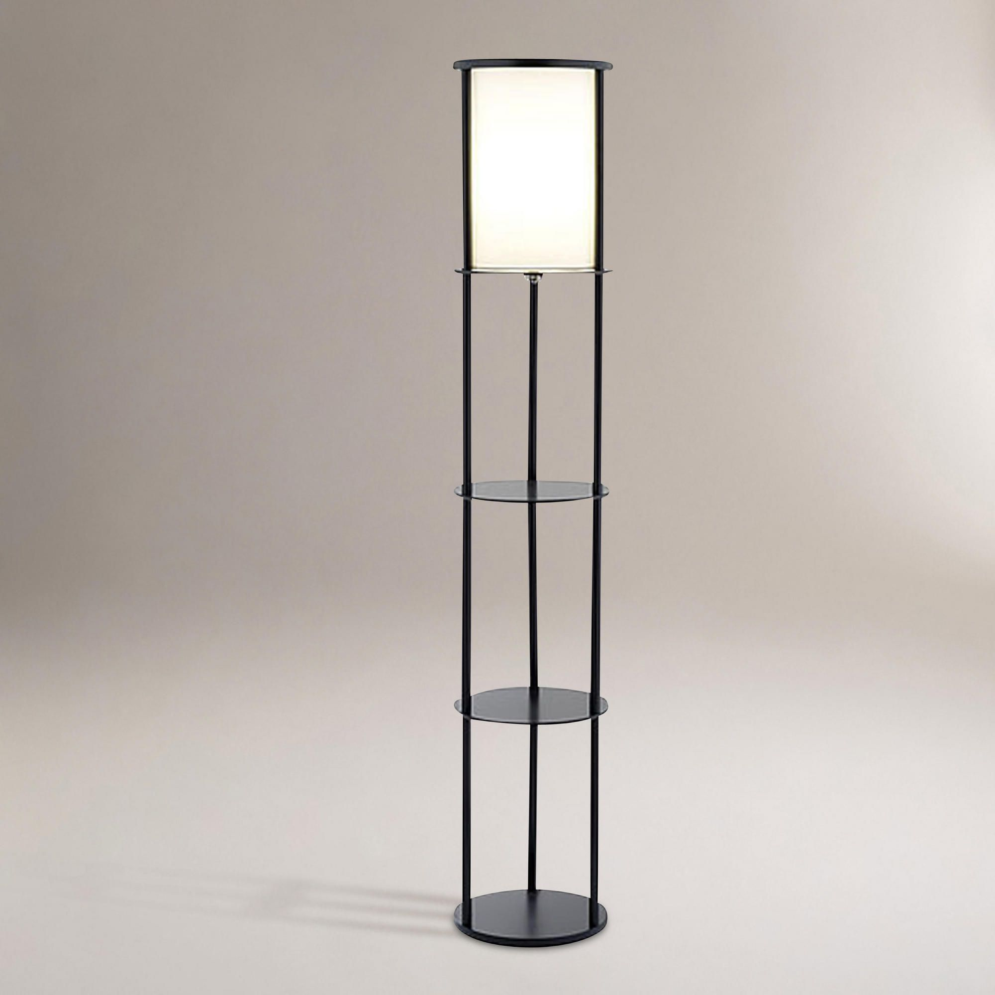 Double duty light/shelves? Floor lamp with shelves, Lamp