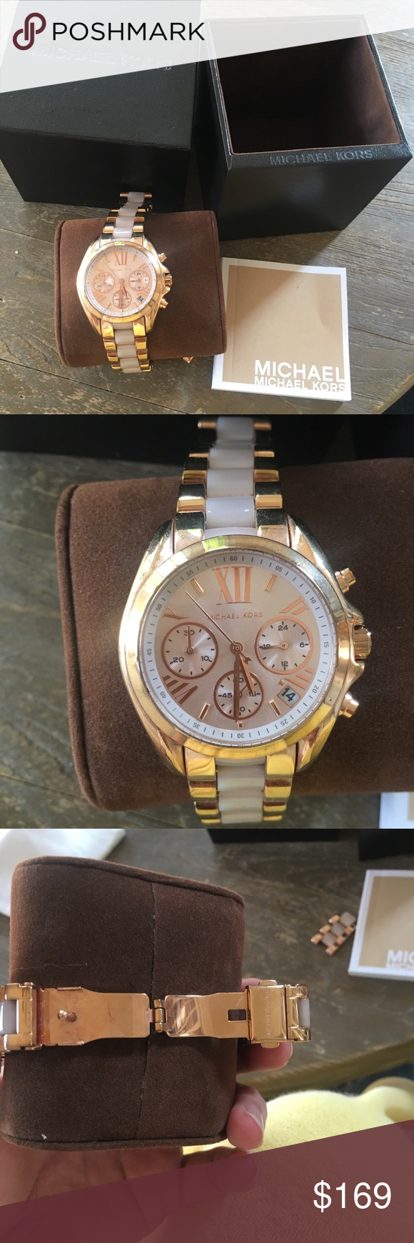 Michael Kors Bradshaw Rose Gold tone watch 36mm Features