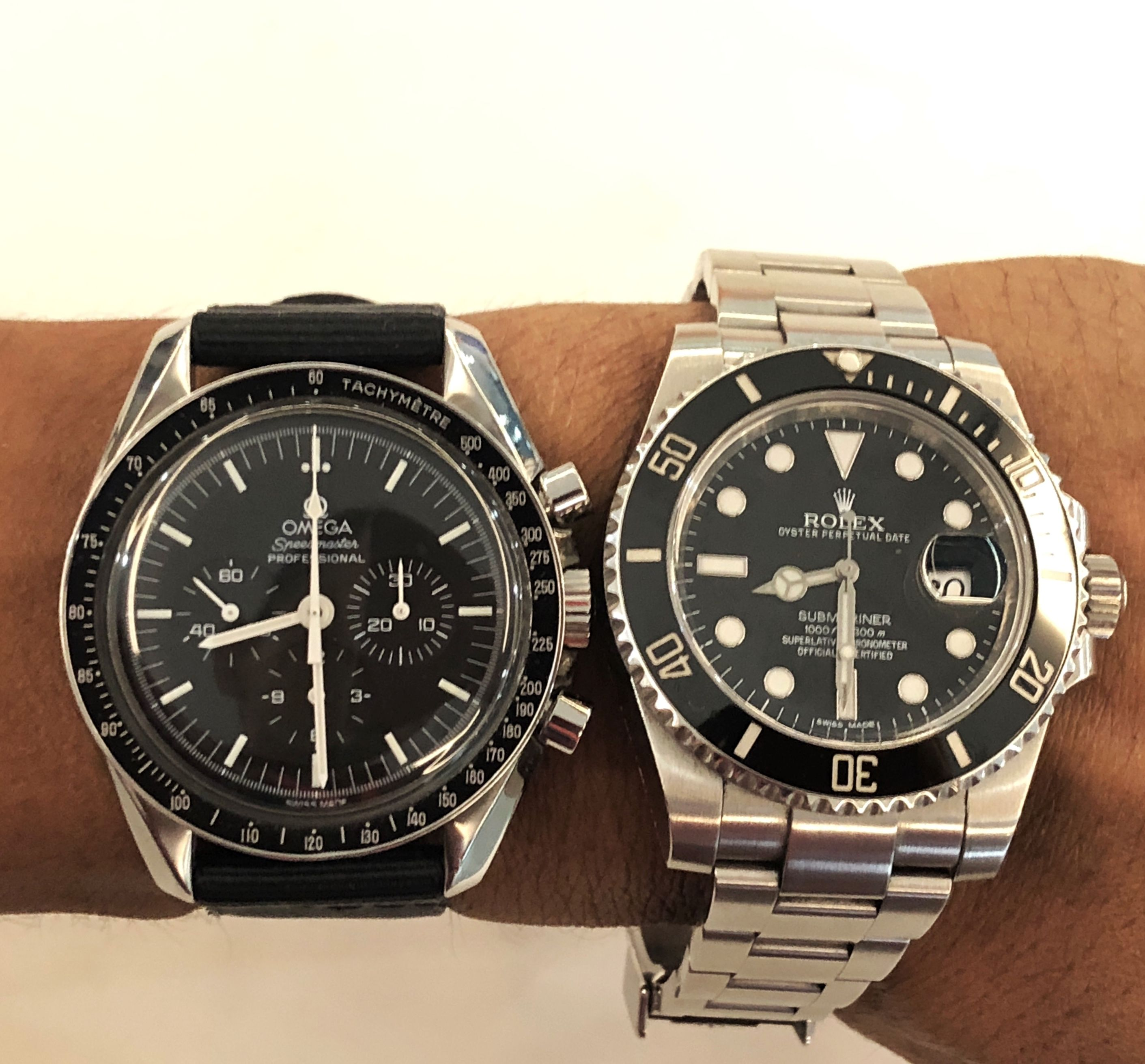 The Two Legends In One Wrist Omega Speedmaster Moonwatch And Rolex