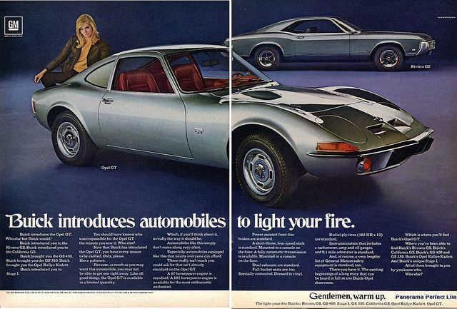 1969 Buick Opel Gt Riviera Gs Advertising Hot Rod Magazine