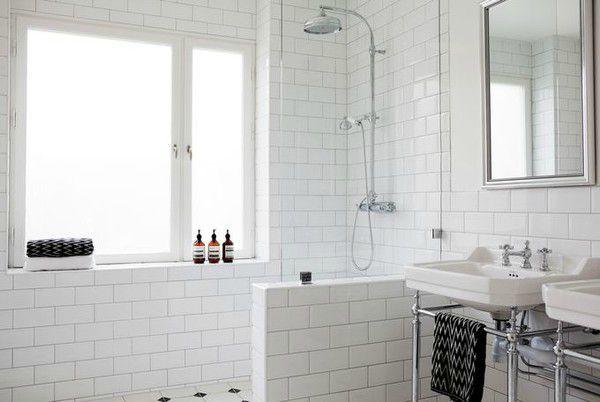 Salle de bain carrelage metro humble abode badezimmer duschwand metro fliesen - Carrelage metro salle de bain ...